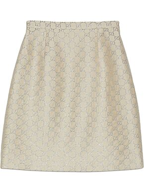 Gg lamé mini skirt