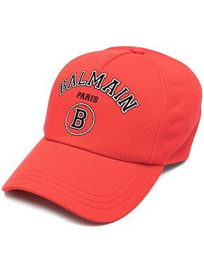 Baseball cap with balmain logo