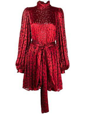 Mini dress in leopard print