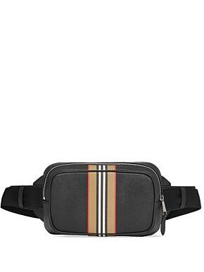 Icon stripe print bum bag