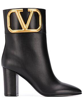 V logo ankle boots
