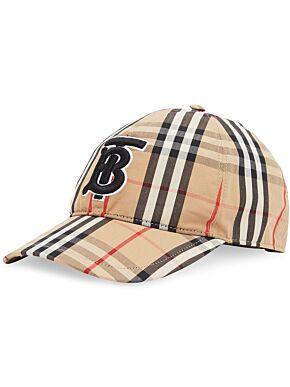 Monogram motif vintage check baseball cap