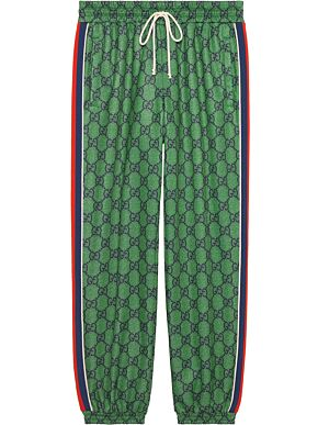 Gg jersey jogging trousers with web