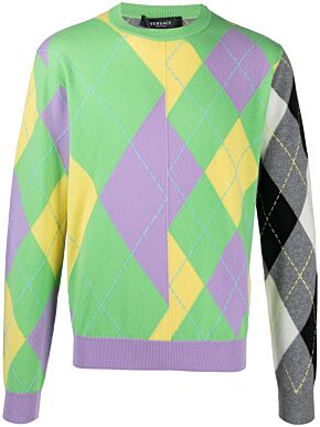 Multi panel sweater