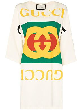 Oversize t-shirt with gucci logo