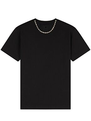 T-shirt with chain collar