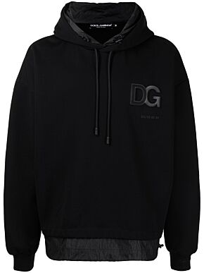 Hoodie with 3d dg logo