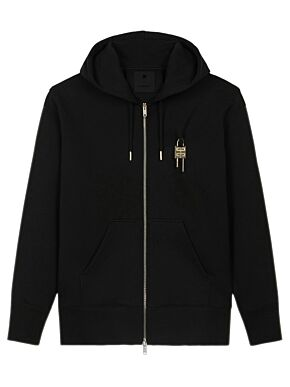 Oversized hoodie with metallic embroideries