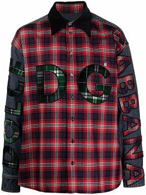 Denim shirt with dg patch