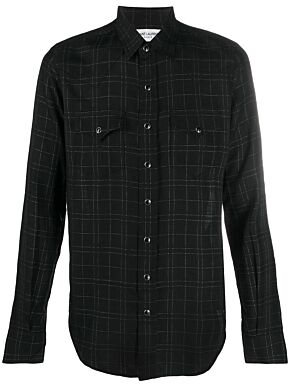 Slim-fit western check shirt