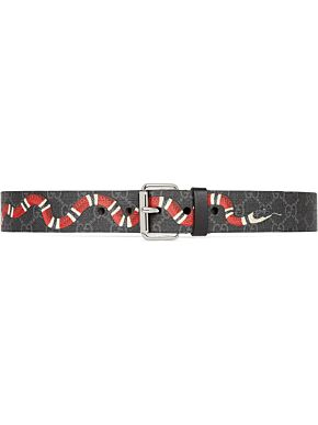 Gg supreme belt with kingsnake print