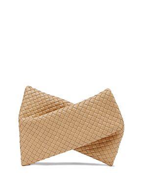 Crisscross clutch bag