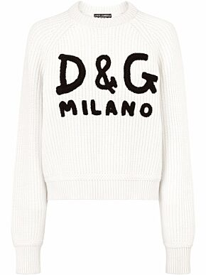 Sweater with dg embroidery