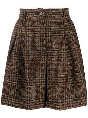 Pied-de-poule shorts