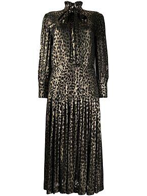 Lavallière neck long dress
