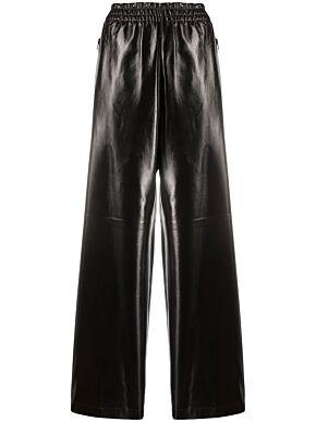 Shiny leather pants