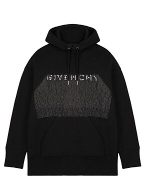 Givenchy lace oversized hoodie