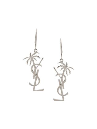 Monogram palm earrings