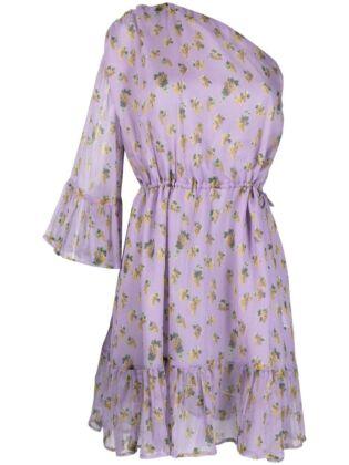 Dress with grape print