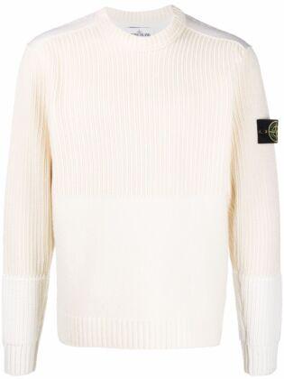 Ribbed-knit sweatshirt