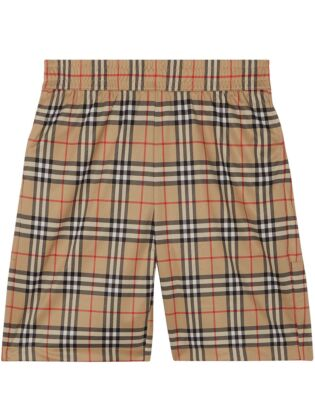 Vintage check technical shorts