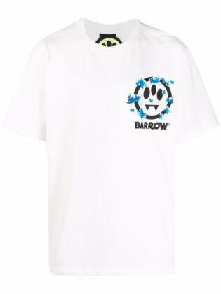 Unisex smiley-print t-shirt