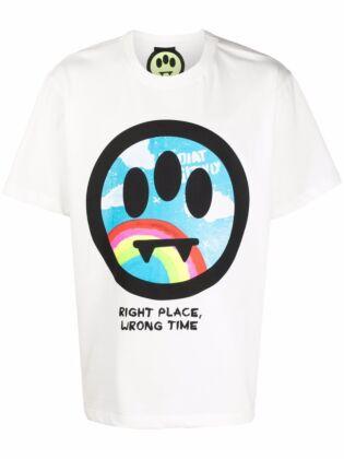 Unisex maxi smiley-print t-shirt